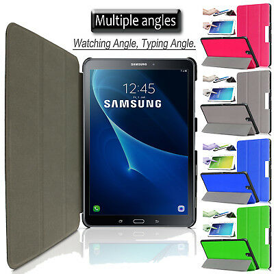 ON,OFF Flip Leather Smart Pouch Case Cover For Samsung Tab A 10.1 Inch T580 T585