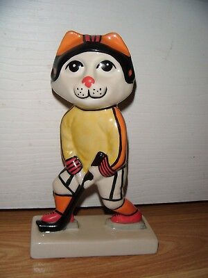 Lorna Bailey Cat From The Olympics Range ~ Hockey Player ~ Excellent