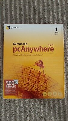 Symantec PCAnywhere Host And Remote 12.1 New In Box