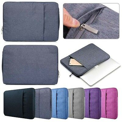 Denim Fabric Laptop Sleeve Cover Carry Pouch Bag For 14 inch Lenovo Dell HP Acer