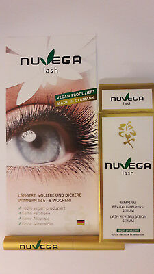100% ORIGINAL Nuvega Lash 3ml Wimpern Revitalisierungsserum