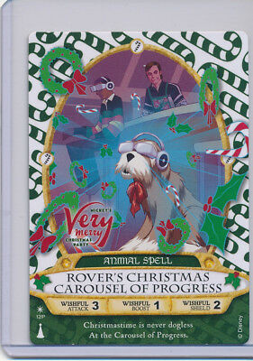 Sorcerer of the Magic Kingdom Card 12P Rover's Christmas Carousel of Progress