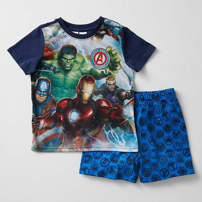NEW Marvel Avengers Short Sleeve Pyjama Set Kids