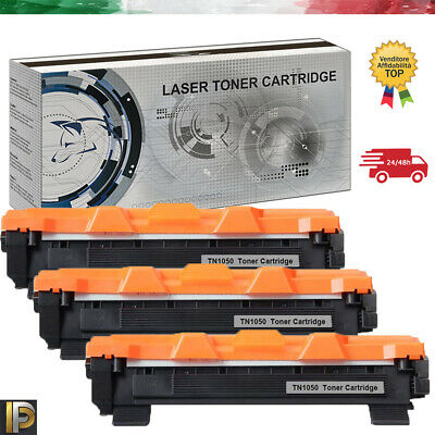 3 Toner Compatibili Per Brother Tn1050 Hl1110 Dcp1510 Mfc1810 Mfc1910