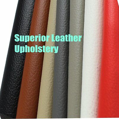Finish PVC Leatherette Leather Fabric Vinyl Sheet 140cm x 65cm knitted backing