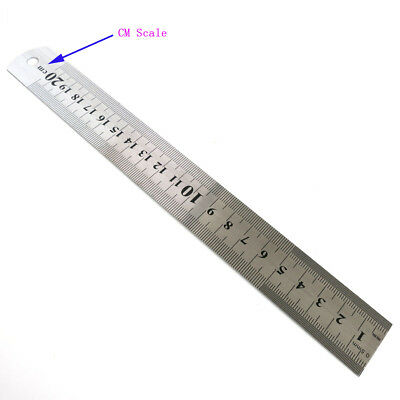"""20cm Stainless Steel Ruler Straight Edge INCH/CM Scale Hand Measuring Tools 8"""""""