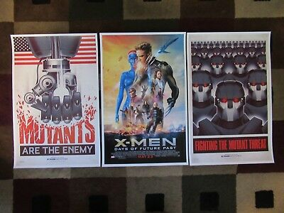 """X-Men: Days of Future Past  (11"""" x 17"""") Movie Collector's Prints ( Set of 3 )"""