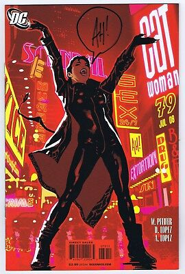 Catwoman #79 VF/NM Signed w/COA by Cover Artist Adam Hughes 2008 DC Comics
