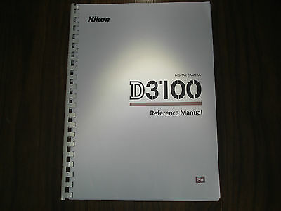 ~PRINTED~ Nikon D3100  User guide Instruction manual  A4 or handy A5