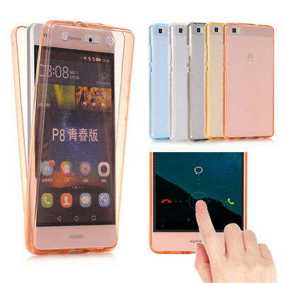 Soft TPU 360 Degree Full Cover Silicone Case for Huawei / Redmi Phone Shell Skin