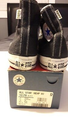 da8acfa9ee44 Converse All Star Chuck Taylor Limited Edition Hemp Black Made In Usa Ht 9M  Nib!