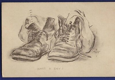 What a Day Marshall Davis Postcard from 60th TCS Army Air Base Grenada MS 1943