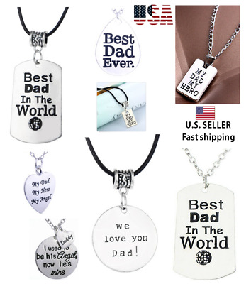 Family Fashion Charm Pendant Necklace Dad Fathers Father's Son Jewelry Gifts