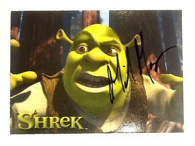 Mike Myers Signed Shrek Card, Coa & Mystery Gift
