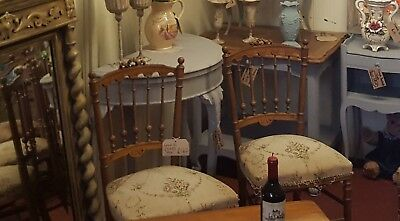 Antique french hall chairs