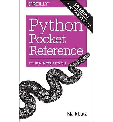 Python Pocket Reference by Mark Lutz Book | NEW Free Post AU
