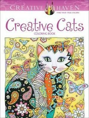 Creative Haven Creative Cats Coloring Book by Marjorie Sarnat Book | NEW AU