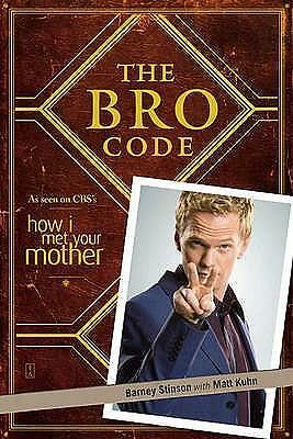 The Bro Code By Barney Stinson Paperback Book | NEW & Free Shipping