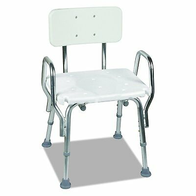 Duro-Med Medical Tool-Free Assembly Spa Bathtub Shower Chair with Arms White