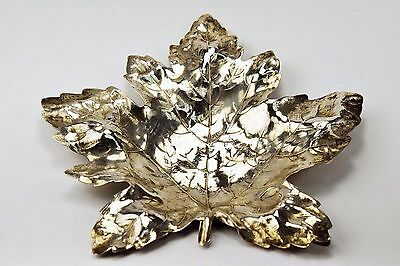 925 Sterling Silver Maple Leaf Ash Tray Set of 6 by R. Blackinton & Co.