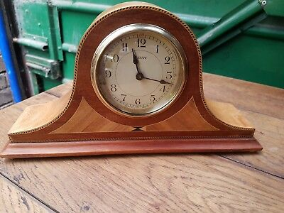 Antique/Vintage Wooden 8 Day Mantel Clock - Lovely Condition - Fully Serviced
