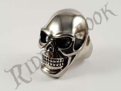 Solid Stainless steel Skull Biker ring Heavy and Chunky outlaw bikie 71 grams