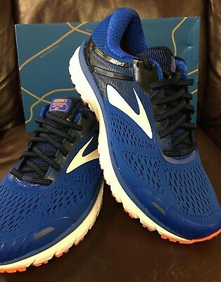 d13915f8950 Brand New In Box Brooks Adrenaline Gts 18 Mens Running Shoes Blue Orange 420