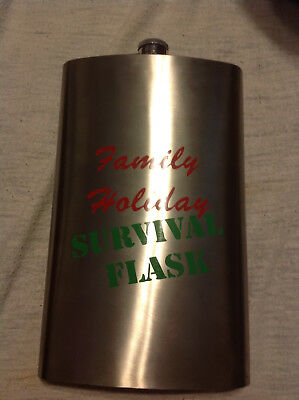 Family Holiday Survival Flask Drink 64oz Stainless Steel Party Gift Novelty Cave