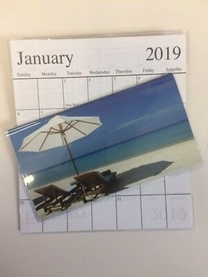 1-2019-2020 BEACH UMBRELLA WITH 2 CHAIRS  2 Year  Pocket Calendar planner