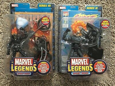 2 MARVEL LEGENDS GHOST RIDER Series III 3 Series VII 7 LOT HELL CYCLE No Damage)