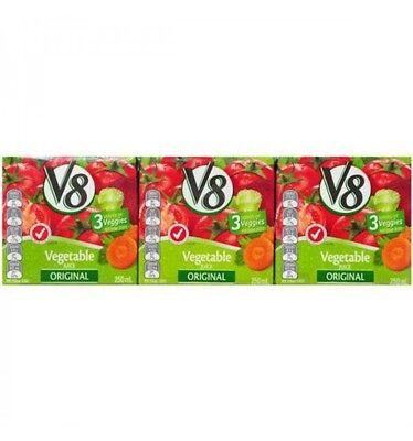 Campbell Soups V8 Juice Vegetable Original 3 Pack 250ml