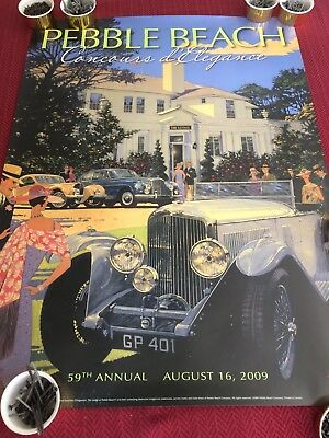 52nd Annual Pebble Beach Concours 2002 Poster Print Cadillac Nicola Wood