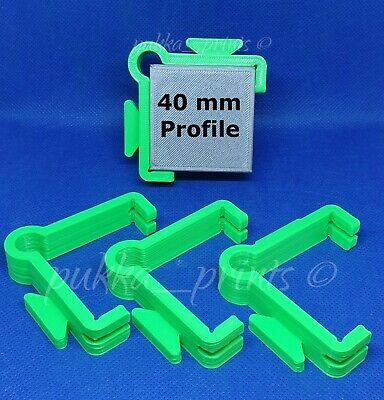 External Line Holder Clips set 4 Brick laying wall Building blakes Profiles 40mm