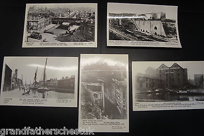 Set Of Rare Pamlin Prints Postcard Canal Barges Inland Waterways Boats Warehouse