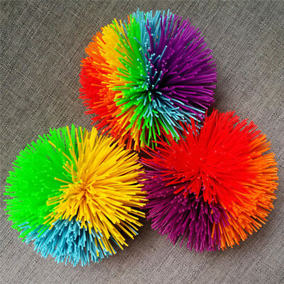 Anti Stress Rainbow Mondo Koosh Ball Fidget Sensory Kids Stretchy Ball Toy GS