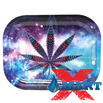 Smoke Arsenal BLUEBERRY KUSH Cigarette Tobacco Metal Small Rolling Tray 7x5