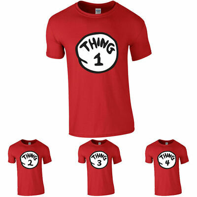 Thing 1 And Thing 2 T Shirts Nice Cute New Kids Adults Thing One Two