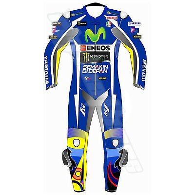 Valentino Rossi Yamaha Movistar 2018 Motorbike Leather Race Suit All Size Avail