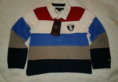 New Boys Toddler Tommy Hilfiger Rugby Long Sleeve Shirt 4t