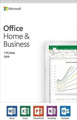 Microsoft Office Home and Business 2019 For PC/Mac , T5D-03203 New Release