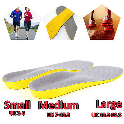 Unisex Orthopaedic Memory Soft Foam Shoes Pads Trainer Foot Feet Comfort Insoles