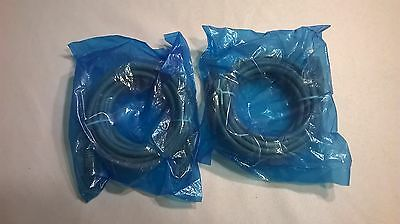 Lot of 2 - 10' ft Cat5e Patch Ethernet Cables LAN Network