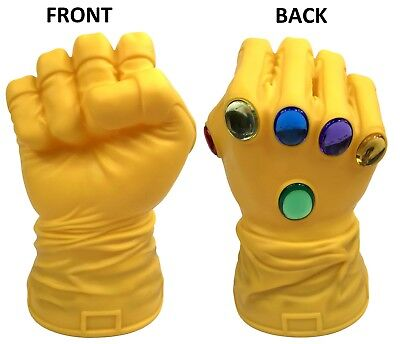 Marvel Infinity Gauntlet Yellow Hand Bust Bank Piggy 3D Toy Figure Coin Bank