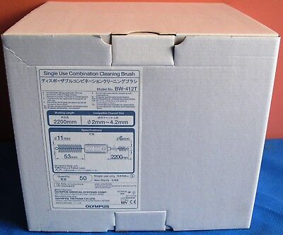 NEW Olympus BW-412T Single Use Combination Cleaning Brush Box of 50