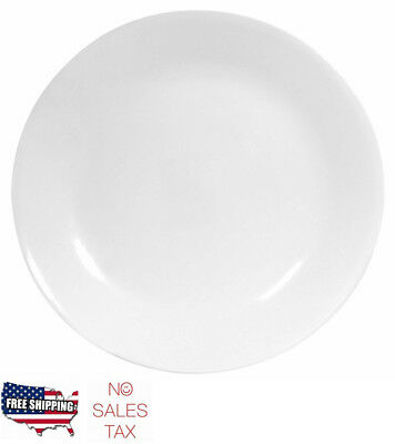 Dining Plate Set 6pc Dinner Service Ware Break Chip Resistant Winter Frost White