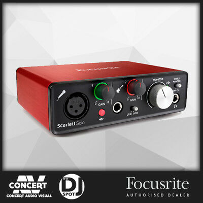 Focusrite Scarlett Solo USB Audio Interface w/ Pro Tools & Ableton Live(2nd Gen)