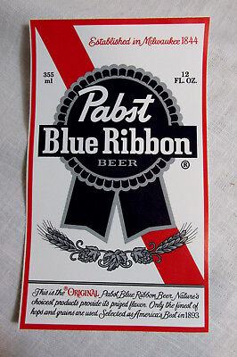 """PBR PABST BLUE RIBBON Beer STICKER 3 1/4"""" X 5 1/2"""" Decal NEW!"""