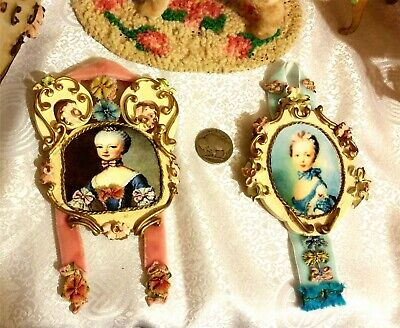 1950 Dollhouse Spielwaren Doll Furniture Rococo Bedroom Baroque 11pc+xtra Groups