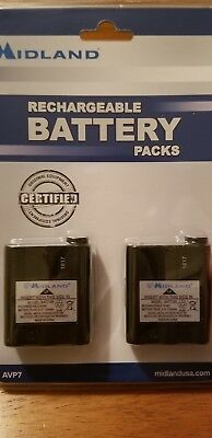 Midland Rechargable Battery Pack Midland GXT and Base Camp Radios 2 pack AVP7