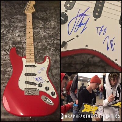GFA Daniel, Zach & Jack * WHY DON'T WE * Signed Band Electric Guitar W2 COA
